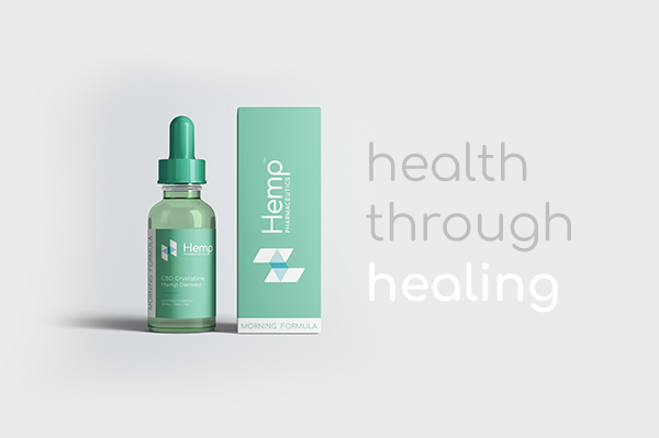 Hemp Pharmaceutics Package Design and Tagline: Health Through Healing